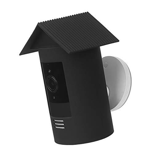 Ring Stick Up Cam Batterie Halterung aus Silikon Sicherheitskamera Anti-Glare Abdeckung UV-Schutz für Ring Stick Up Cam Akku (2018) Sicherheitskamera, schwarz