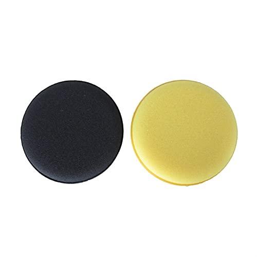 Lixiaonmkop 5 teile/satz Autowäsche Wachs Schwamm Pad Polnisch Schaum Schwamm Für Auto Körper Glas Detailing Reinigung Autopflege Saubere Kits Werkzeuge Zubehör (Color : Yellow)