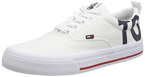Hilfiger Denim Damen WMN Logo Tommy Jeans Sneaker, Weiß (White 100), 41 EU