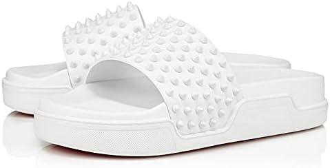 Wzdszuiltx OFFicial Men's Sandals Rivet Thick Bottom Increased New color Decoration