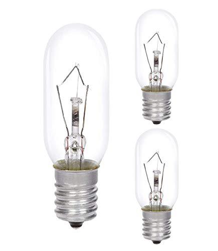 AcornSolution 40W Dunstabzugshaubenlampe Lampe SES Dunstabzugshaube, Dunstabzugshaube Glühbirne, E14-Gewinde, T25 240V AC, auch für Öfen geeignet [Energieklasse E] (3er-Pack)