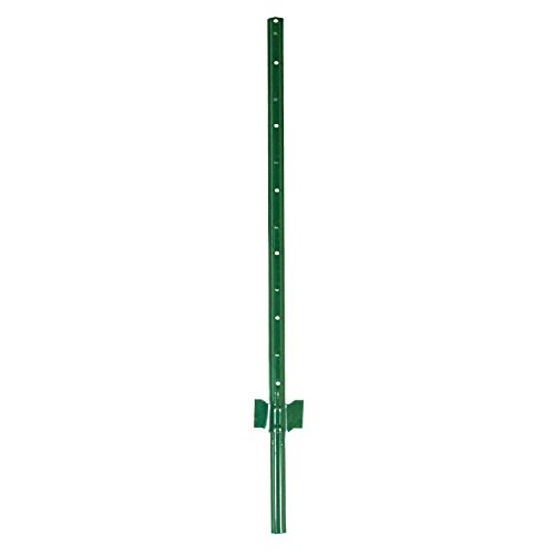 Garden Zone Utility Fencing Light-Duty Steel Fence Post (10 Pack), Green, 4'