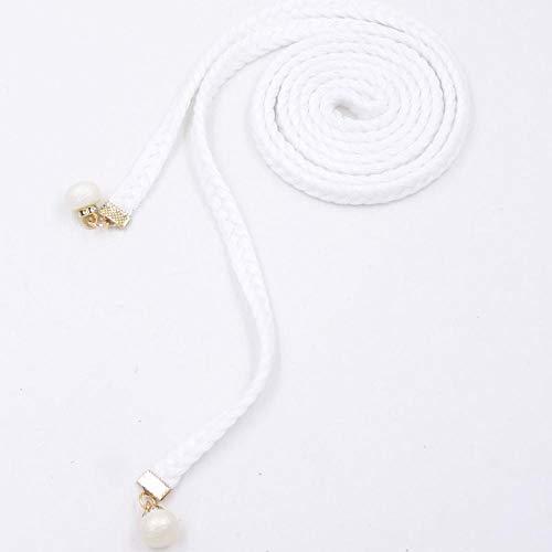XIMAO Baumwolle Geflochten Dünner Gürtel Lässig Gürtel Taillenkette Einfache Wilde Kleid Damen Mode Dekorative Taille Seil Weiß