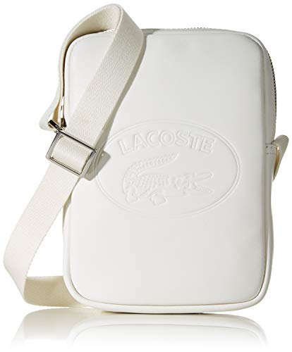 Lacoste Herren Nh2928ic L.12.12 Cuir Einkaufstaschen & Handtaschen, Weiß (Marshmallow), 3.5x21x15 Centimeters