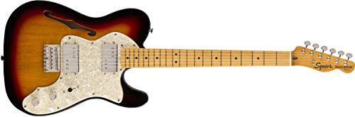 Squier by Fender Classic Vibe 70er Telecaster Thinline E-Gitarre – Ahorn – 3 Farben Sunburst