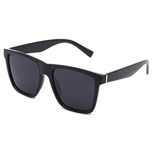 MarXixi Klassische Sonnenbrille Sonnenbrille Sonnenbrille polarisierte Brille treibend Spiegel-Matt Rahmen schwarz grau