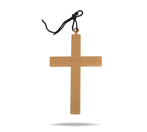 TK Gruppe Timo Klingler Kreuz Kette Halskette XXL Kreuzanhänger für Fasching und Karneval als Accessoires zum Kostüm Damen & Herren wie Nonne, Pfarrer, Mönch, Priester