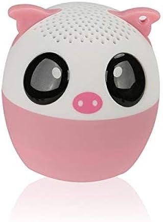 LAKD Mini Animale Bluetooth Altoparlante Portatile Cartone Animato All'aperto Lettore Musicale Zoom in Altoparlante Supporto Altoparlante Selfie Altoparlante Maiale Rosa - Trova i prezzi più bassi