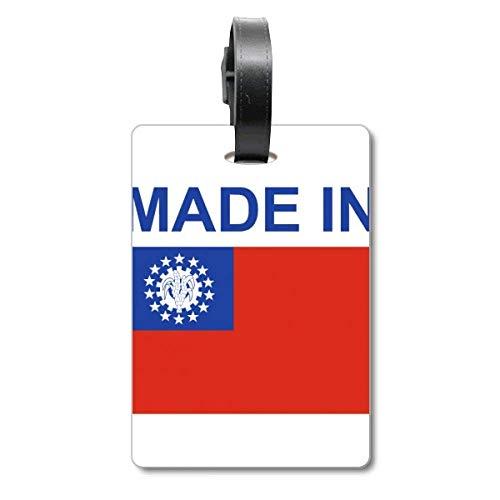 Étiquette d'identification pour Valise de Voyage fabriquée au Birmanie