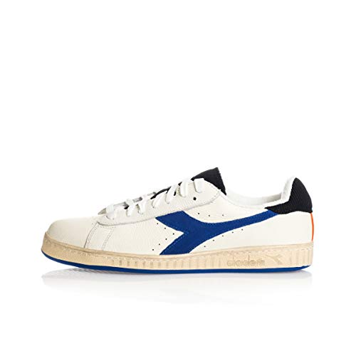Diadora Scarpe Sneaker Uomo Modello Game L Low Icona 3 Colori (White/Amparo Blue - 41 EU)