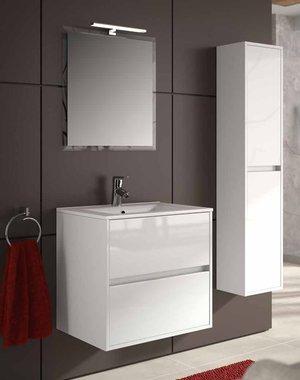 NOJA 600-700 - Set di mobili da bagno da 60 o 70 cm, con specchio e faretto a LED, varie finiture