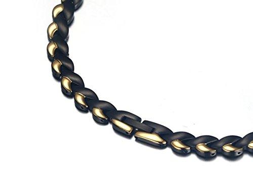 KnSam Collana Uomo Acciaio Inossidabile Corda A Treccia di Cuore Oro