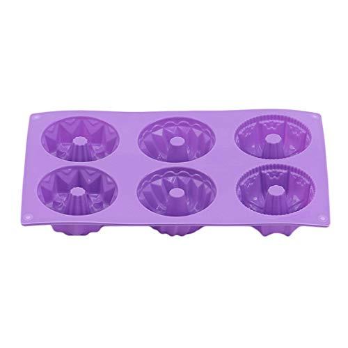 YHFJB Moldes de silicona con forma de dulces, moldes de silicona para fondant, molde para tartas de chocolate, herramientas de horneado hechas a mano