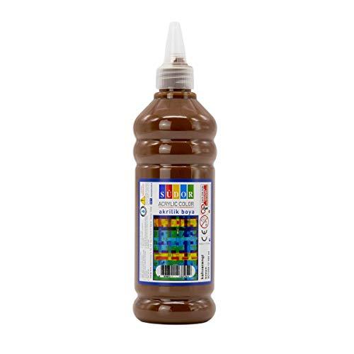 SÜDOR ACRYL Farbe 500 ml - Günstige Acrylfarbe Hochwertige Künstler-Malfarben Basteln (Braun)