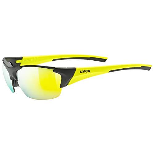 uvex Unisex– Erwachsene Blaze III Sportbrille, Black mat Yellow/Yellow, one Size