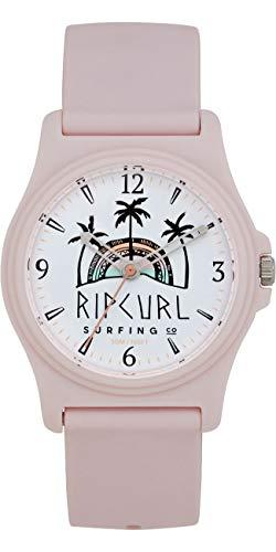 RIP CURL Reloj Mujer Revelstoke - Rosa - Ligero, Resistente al Agua y Resistente al rocío - Dial gráfico Impreso