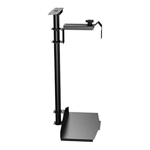 EUREKA ERGONOMIC CPU Holder Under Desk Mount, Computer Tower Holder 360° Swivel Height & Width Adjustable, Holds up to 44 lbs, Fits Most Computer Cases, Black
