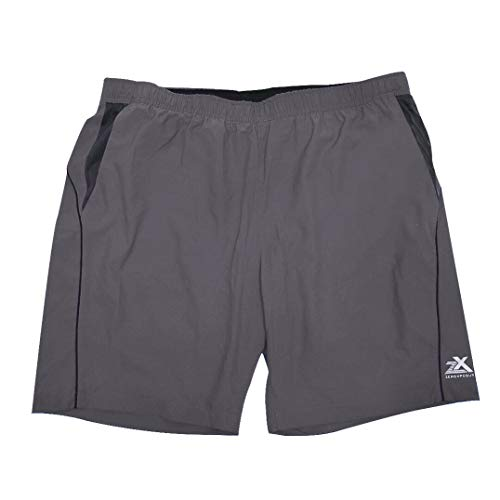 ZeroXposur Mens Fusion Athletic Gym to Swim Shorts Workout Swimsuit Trunks with Pockets Slate Large