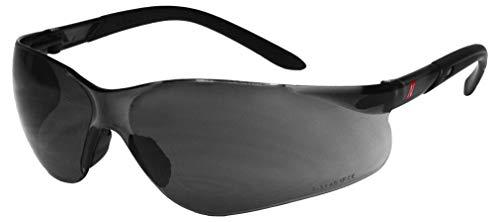 NITRAS Vision Protect Schutzbrille - Arbeitsbrille aus Polycarbonat mit UV-Schutz - Passend für Erwachsene (Damen & Herren) - Dunkel (Getönt)
