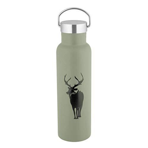 axentia 131906 Davos Isolierflasche für Warm- und Kaltgetränke, Edelstahl, Taupe