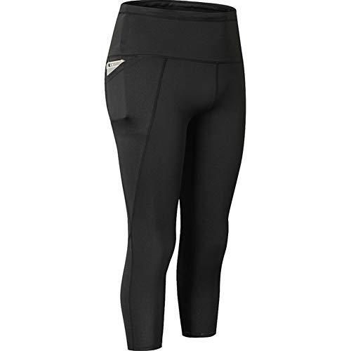 HuntDream Pantalones de Yoga para Mujeres Mallas de Malla con Bolsillos Laterales Leggings de Talle Alto
