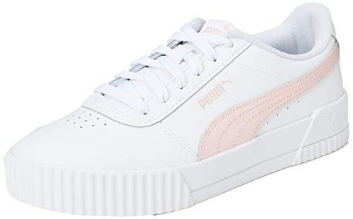 PUMA Mujer Carina L Zapatillas, Blanco White/Pink Rosewater/Pink Rosewater 10, 40 EU