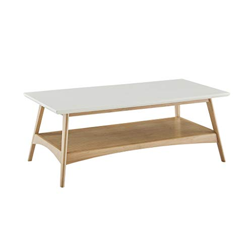 Madison Park Parker Coffee Table with White and Natural Finish MP120-1063