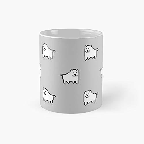 Undertale Annoying Dog - Taza clásica gris con el mejor regalo, tazas de café divertidas, 11 oz