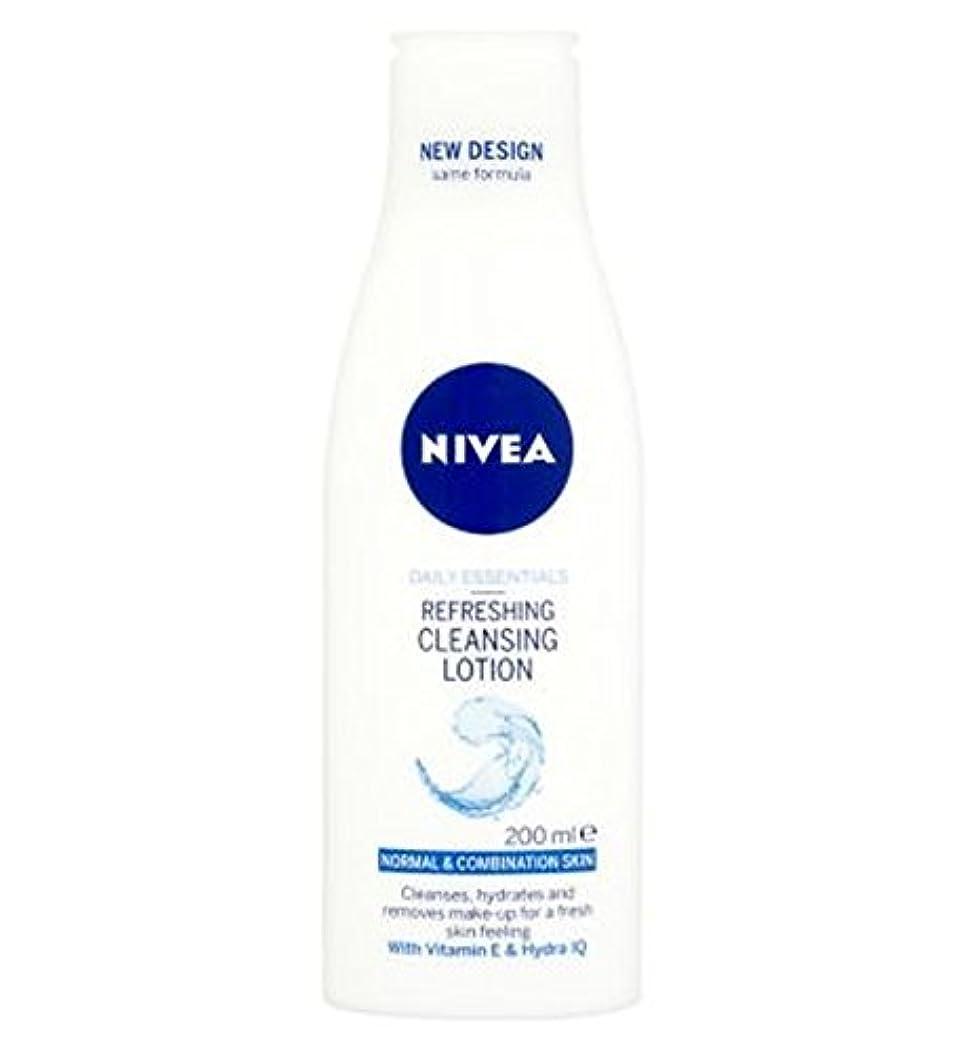口径悪化させる日食Nivea Daily Essentials Refreshing Cleansing Lotion For Normal to Combination Skin 200ml - 混合肌の200ミリリットルに、通常のためのクレンジングローションをリフレッシュニベア生活必需品 (Nivea) [並行輸入品]