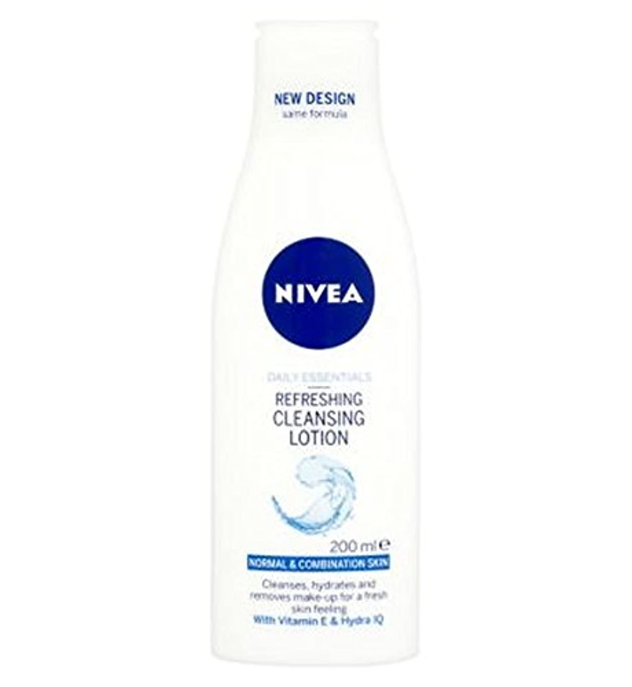 Nivea Daily Essentials Refreshing Cleansing Lotion For Normal to Combination Skin 200ml - 混合肌の200ミリリットルに、通常のためのクレンジングローションをリフレッシュニベア生活必需品 (Nivea) [並行輸入品]