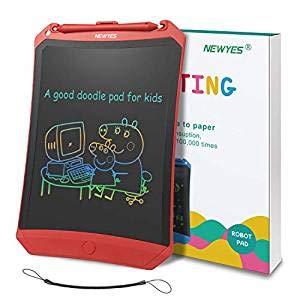 NEWYES Tableta de Escritura LCD 8,5 Pulgadas | Tablet para Dibujar para Niños. Colores Más Brillantes, Ideal como Pizarra electrónica para Aprender a Leer, Escribir y Manualidades-Blanco