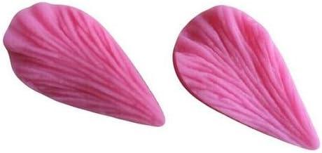 JER Prensa Molde de Silicona Forma de Hoja decoración de Pasteles Fondant Cake Molde de Silicona