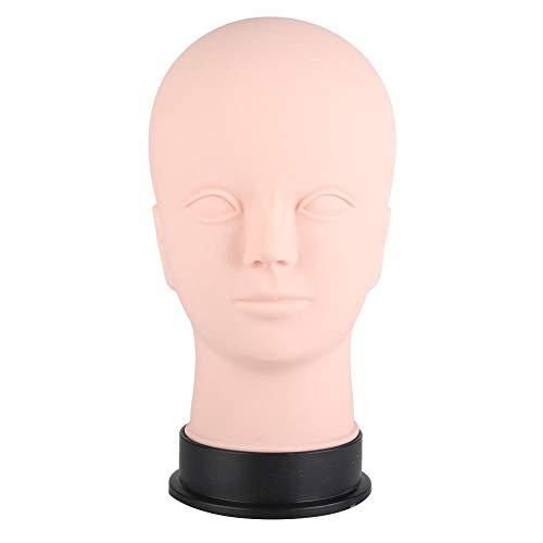 Caredy tête de Mannequin 21.7in Mannequin Coiffure Formation Styling Doux Massage Pratique de Tatouage Mannequin Tête Cosmetology Formation Perruque