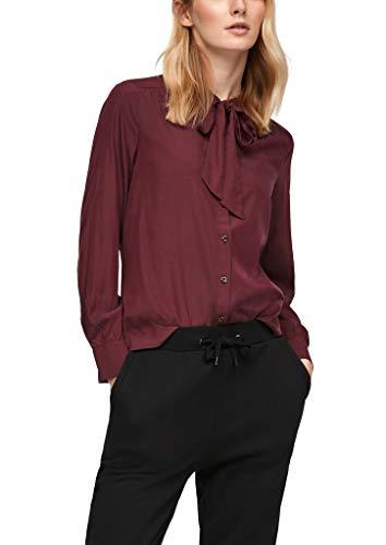 s.Oliver Damen Modal-Bluse mit Schluppe Dark red 44