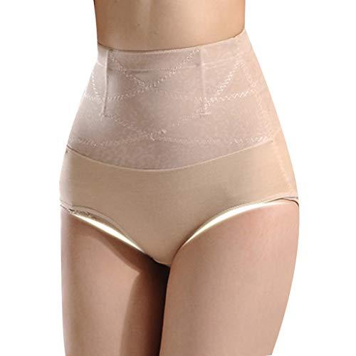 Hatop-Shapwear Control Panties for Womens Seamless Butt Lifter Tummy Control High Waist Panties Enhancer Underwear Beige
