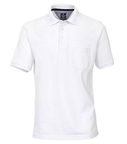 Redmond Herren Poloshirt unifarben Brusttasche 100% Baumwolle