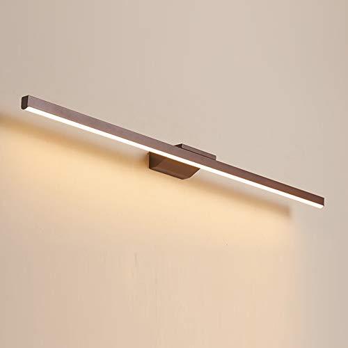 Brun LED Lampe pour Mirior Eclairage de Salle de Bain Applique Mural Moderne Miroir-Avant Garde-robe Tableaux Luminaire Intérieur Couloir Hôtel Balcon Coifeuse IP44,120cm