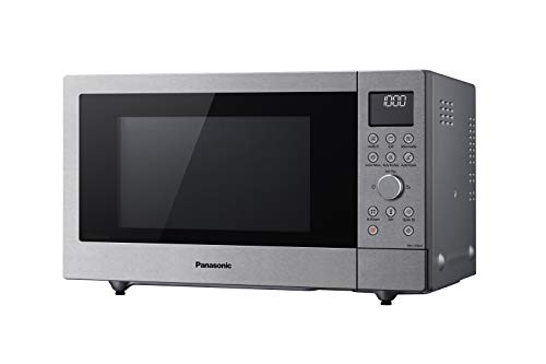 Panasonic Microondas NN-CD58 (1000 W, con parrilla y aire caliente, Inverter Microondas de 27 litros, baja profundidad), frontal de acero inoxidable