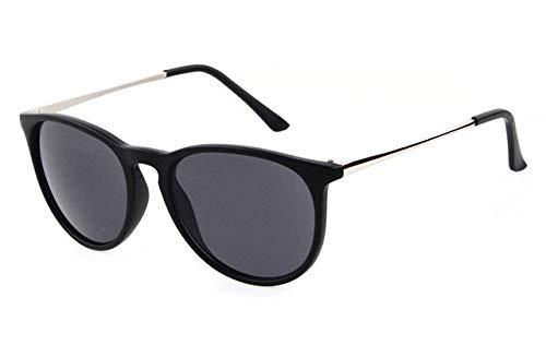 LYRStore886 Occhiali da Sole Rotondi, Gambe di Metallo Sottile delle Retro Donne degli Occhiali da Sole Generoso, Bellissimo (Lenses Color : C2 Matte Black)