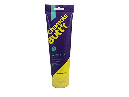 Camoscio Butt'r Unisex tubo 226,8 g x12 Ciclismo Anti-Chafe Cream Eurostyle, formula di raffreddamento, 8oz