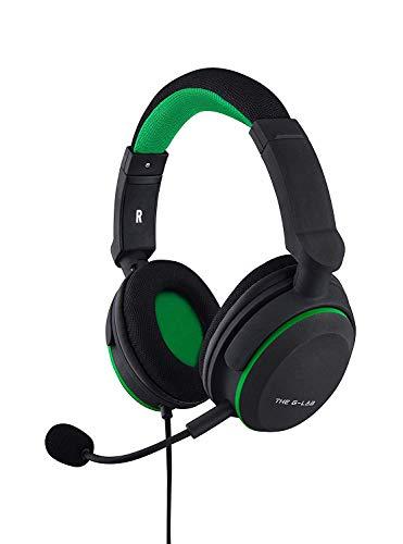 THE G-LAB Korp Oxygen X Aurcilares Gaming Xbox One - Auriculares Micro Gamer con bajos reforzados, Micrófono desmontable, Cómodo y Ligero - Compatible con PC, PS4, Xbox One, Switch, Smartphone (Negro)
