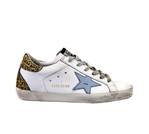 Golden Goose Sneakers Superstar Weiß Glitter Bronze, Mehrfarbig - weiß - Größe: 37 EU