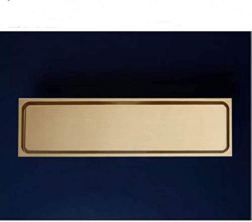 YYALL Drenaje de piso Cobre puro Latón dorado de alta calidad 300 * 83 mm Baño Ducha lineal Drenaje de piso Escurridor Escurridor