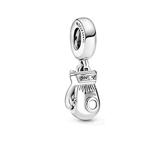 QWEILOY 925 Sterling Silber Anhänger Trendy Perle Boxhandschuhe Charme Original Pandora Charms Armband Frauen DIY Schmuck Geburtstagsgeschenk