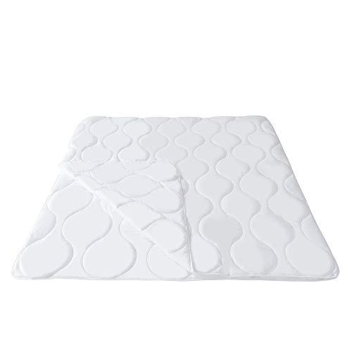 Mack 4 Jahreszeiten Bettdecke 240x220cm Microfaser Bettdecke 4 Jahreszeiten 240x220 4 Jahreszeitenbett Steppbett Steppdecke aus Microfaser Allergiker geeignet mit Drückknöpfen