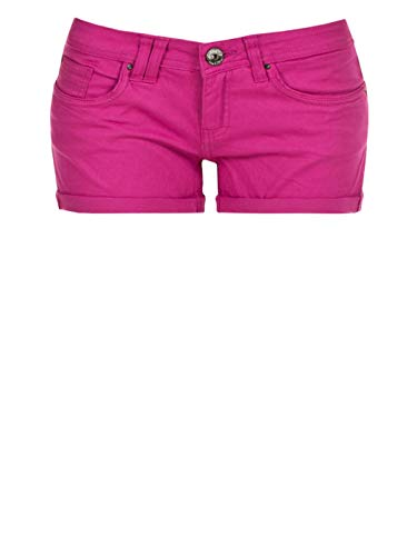 Eight2Nine Damen Hotpants 5-Pocket Kurze Hosen 2014 Star MOD 15889 D.G, (14400) Dark pink, L, (14400) Dark pink, L