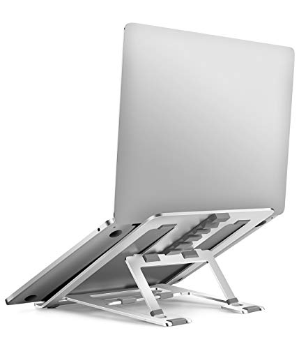 Buy Adjustable Laptop Stand, Lightweight Portable Aluminum Ergonomic Ventilated Foldable Laptop Rise...