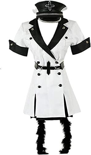 Anime Aka-me G-a K-ill Disfraz de Cosplay Carnaval de Halloween Uniforme escolar diario Trajes de vestido de marinero Linda falda JK (Color : Blanc, Size : L)