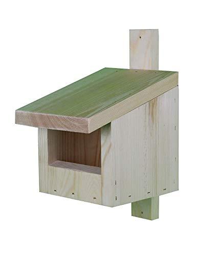 Vogelhaus für Redstarts, Amseln, Rotkehlchen und Turmfalken - Rohholz