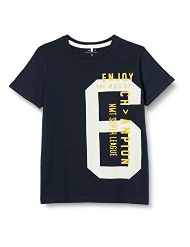 NAME IT Jungen NKMDUNE SS TOP T-Shirt, Dark Sapphire, 158-164